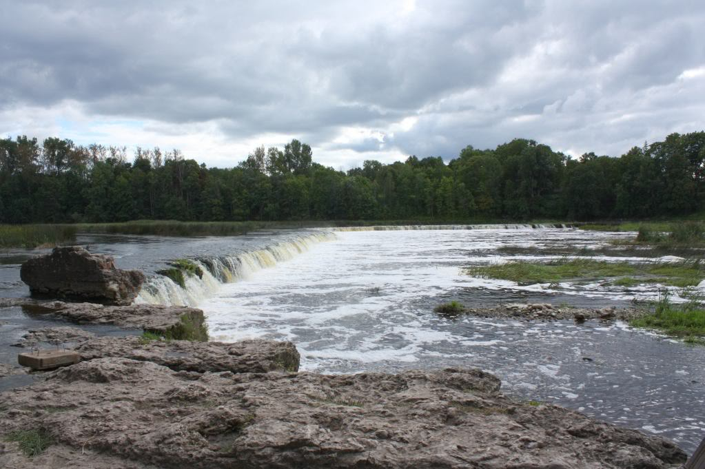 Кулдигский водопад в латвии